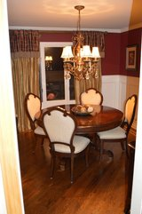 Complete Dining Room  (6 Chairs, Leaf, Buffet, Drapes, Light Fixture) - Ask for Photos in Chicago, Illinois