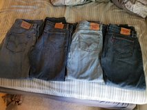 Lot of 4 Levi Jeans 36x32 (Great Condition)! in Naperville, Illinois