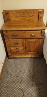 Antique Small Oak Dresser in Oswego, Illinois