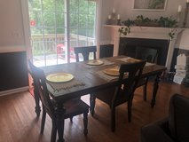 Rectangular Farmhouse Style Table + (4) Chairs in Camp Lejeune, North Carolina