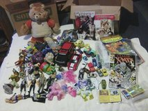 2 Boxes toys,Pokemon cards,comics in Beaufort, South Carolina