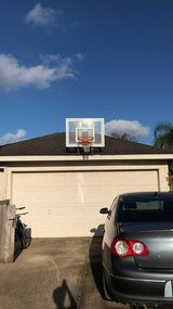 Roof Mounted Basketball Goal in Pearland, Texas