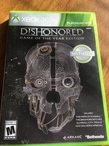 Dishonored-Game of the Year Edition X BOX 360 in Fort Riley, Kansas