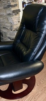 Leather Chair & Foot Stool in Chicago, Illinois