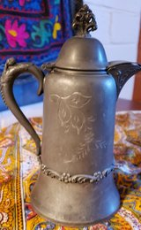 Antique - Quaint Cute Etched Germanic Silver Teapot in 29 Palms, California