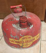 Vintage 2 1/2 Gal. Perfection Heavy Gauge Steel Galvanized Gasoline Can in Westmont, Illinois