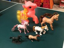Lot of 7 Plastic Ponies in Glendale Heights, Illinois