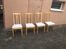 Ikea Aron - 4 solid wood chairs in Ramstein, Germany