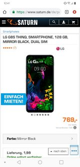 new unlocked LG G8s ThinQ mirror black 128GB in Ramstein, Germany