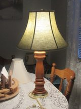 wood tall table lamp nice shade in Alamogordo, New Mexico