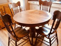 Round Oak Antique table in Kingwood, Texas