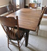 5 antique wood chairs in Kingwood, Texas