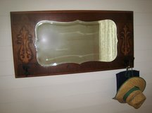 Antique Mirror with coat hooks in Spring, Texas