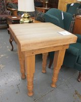 Wood Butcher Block Table in Westmont, Illinois
