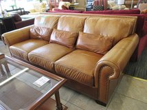 """Finer by Design"" Leather Sofa in Glendale Heights, Illinois"