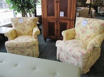 Comfy Yellow Floral Chairs by Hickory in Bartlett, Illinois