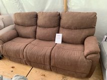 Lazyboy Reclining Sofa Added to Tent Today in Fort Campbell, Kentucky