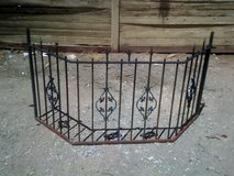 Wrought irom security panel for bay window. in Alamogordo, New Mexico