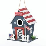Americana Birdhouse (Sign: God Bless America / USA flag) in Tacoma, Washington