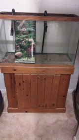 29 High Fish Tank, Stand, Background and Light - Optional Extras in Westmont, Illinois
