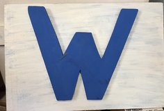"""Cubs W Plaque 9 ½"""" x 14"""" in Glendale Heights, Illinois"""