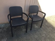2 patio chairs - rattan look in Ramstein, Germany