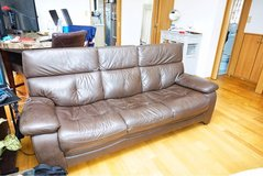 Nitori Faux Leather Couch in Okinawa, Japan