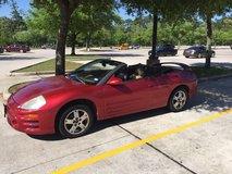 2003 Red Mitsubishi Convertible GT in Houston, Texas
