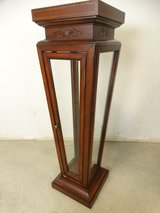 Inlaid Wood & Glass Cabinet in Pasadena, Texas