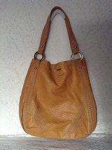 "Satchel purse by"" RED marc ecko"" hobo style designed from soft yellow faux leather in Yucca Valley, California"