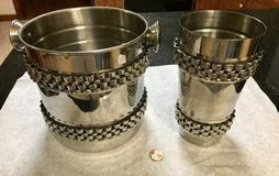 Stainless Steel Ice Bucket Party Tub Beverage Cooler w/Mixer Cup Max Studio Home in Naperville, Illinois