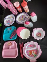 Baby Toddler Girls Sippy Cups Bows Plates Lot in Fort Campbell, Kentucky