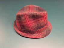 Red/Brown Plaid Fedora Hat in Chicago, Illinois