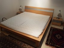Bed, end table , lamps in Ramstein, Germany