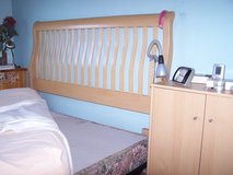 Waterbed Bed Frame with Maple Sleigh headboard in Ramstein, Germany