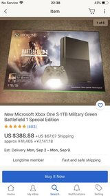 xbox 1 s 1tb battlefield edition brand bew with 5 games in Okinawa, Japan