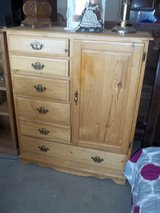 Pine Six Drawer Chest with Closet in Fort Riley, Kansas