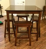 Pub Height Table and Stools in Oswego, Illinois