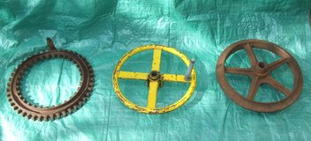 Vintage Industrial Iron Gear ~ Steering Wheel ~ Mining Ore Cart Wheel in Naperville, Illinois
