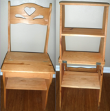Convertible Wood Chair / Step Ladder in Chicago, Illinois