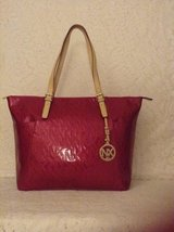 NEW Carry-all large superlight tote by NX in beautiful raspberry logo patent leather. in Yucca Valley, California