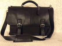 "Authentic ""COACH"" B063-6455C Executive Laptop Briefcase in superb black gen.Leather MSRP $595.- in Yucca Valley, California"