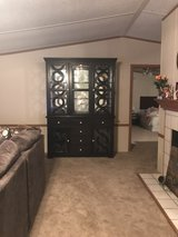 Crown Mark Lighted Cabinet and Hutch in Houston, Texas