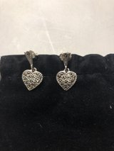 New Sterling Silver Judith Jack Marcasite Heart Earrings in Chicago, Illinois