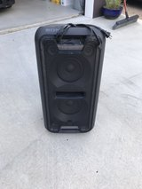 large Sony speaker with lights in Okinawa, Japan