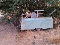 little trash trailer in Yucca Valley, California