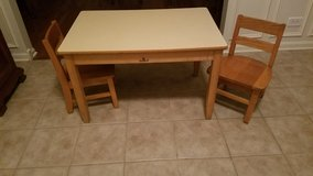 Childs Wood Table w/ 2 Chairs in Oswego, Illinois