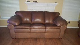 Genuine Leather Sleeper Sofa & Loveseat (Price reduced) in Kingwood, Texas