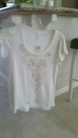 Ladies White Top with embroidered detail in Kingwood, Texas