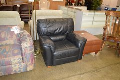 Black Leather Chair in Tacoma, Washington